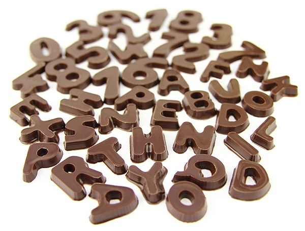 Chocolate Letters Amp Numbers