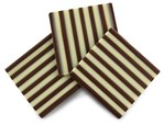 Duo stripe chocolate panel decorations