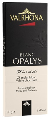 Valrhona, Blank Opalys, white chocolate bar