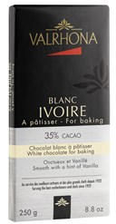 Valrhona, Blanc Ivoire, white chocolate couverture bar