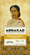 Menakao, Milk chocolate & Madagascan Vanilla bar.