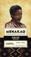 Menakao, 100% dark chocolate bar