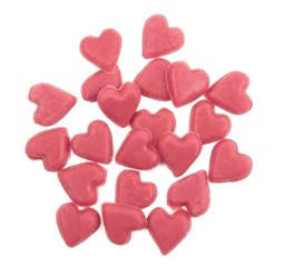Chocolate sprinkle hearts decorations