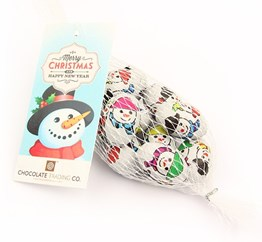 Net of Snowmen chocolate eggs