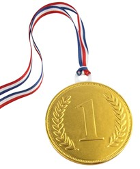 55mm chocolate medal
