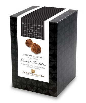 Superior Selection, French Truffles, Chocolate Gift Cube