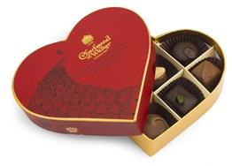Milk & dark luxury chocolate red heart gift box 100g