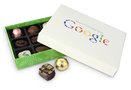 Google branded chocolate box