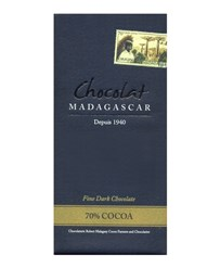 Chocolat Madagascar 70% dark chocolate bar