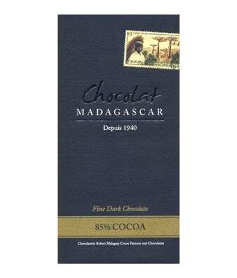 Chocolat Madagascar 85% dark chocolate bar