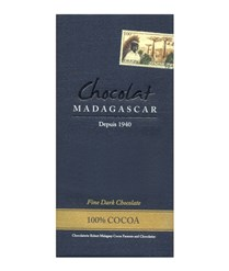 Chocolat Madagascar 100% dark chocolate bar