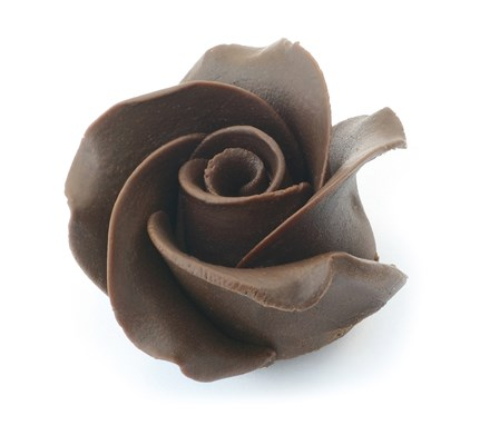 Dark chocolate rose