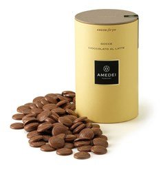 Amedei milk chocolate couverture drops (pistoles)