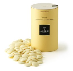 Amedei white chocolate couverture drops