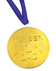 No.1 Dad chocolate medal