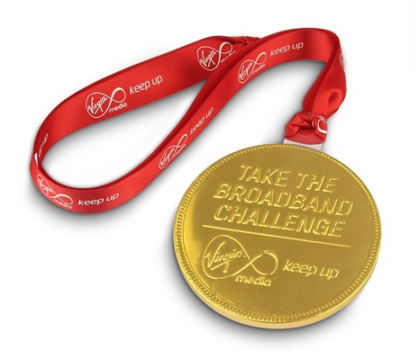 Personalised chocolate medal - Virgin