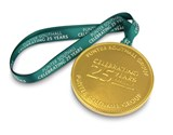 Personalised chocolate medal - Punter Southall
