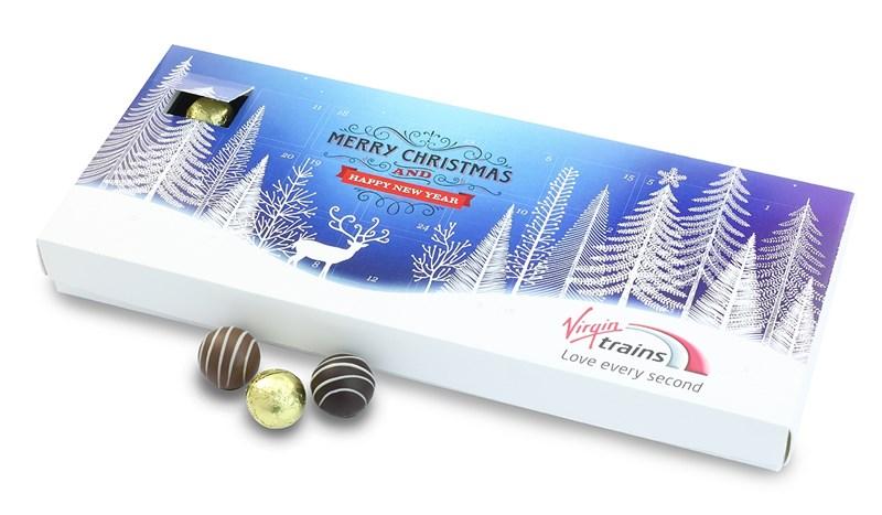 Personalised chocolate advent calendar