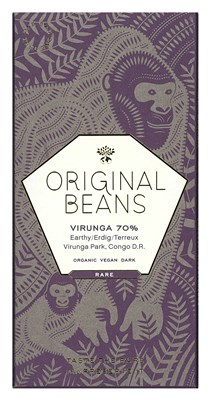 Original Beans, Cru Virunga 70% dark chocolate bar