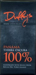 Duffy's Panama Tierra Oscura 100% dark chocolate bar