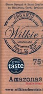 Wilkies, Organic Amazonas 75% dark chocolate bar