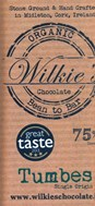 Wilkies, Organic Tumbes 75% dark chocolate bar