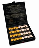 Valrhona Grands Crus milk chocolate squares gift box