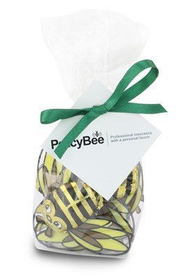 Personalised chocolate bees gift bag