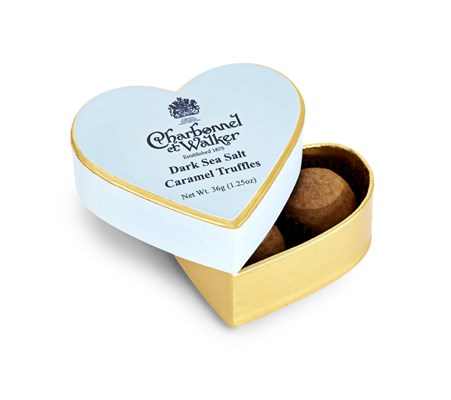 Dark sea salt caramel chocolate truffles 36g