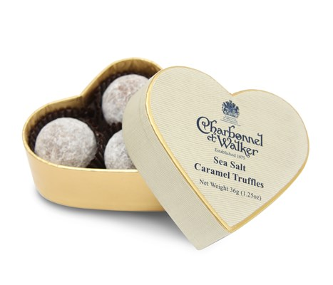 Charbonnel et Walker Mini heart, Milk sea salt caramel truffles
