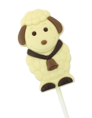 Easter lamb white chocolate lollipop