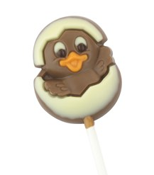 Easter chick and egg lollipop
