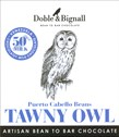 Doble & Bignall, Tawny Owl, Puerto Cabello, milk chocolate bar