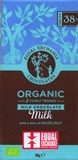 Organic, 38% milk chocolate bar