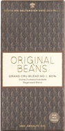 Original Beans, Grand Cru Blend No.1, 80% dark chocolate bar
