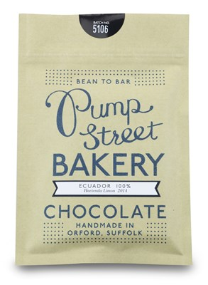 Pump Street Bakery Ecuador 100 Dark Chocolate Bar