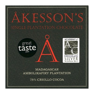 Akesson's, Madagascar Criollo, 75% dark chocolate bar
