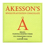 Akesson's, Brazil Forastero,75% dark chocolate with coffee nibs bar