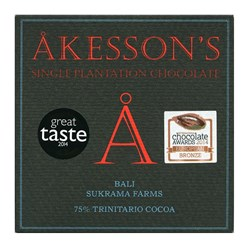 Akesson's, Bali Forastero, 75% dark chocolate bar