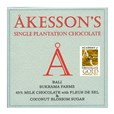 Akesson's, Bali, 45% milk chocolate bar with Fleur de sel and coconut blossom sugar