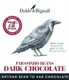 Doble & Bignall, Raven, Parasinho 72% dark chocolate bar