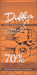 Duffy's, Guatemala Rio Dulce, 70% dark chocolate bar