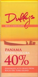 Duffy's, Panama Tierra Oscura, 40% milk chocolate bar