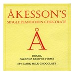 Akesson's Brazil, Fazenda Sempre Firme, 55% dark, milk chocolate bar