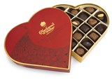 Milk & dark luxury chocolate red heart gift box 255g