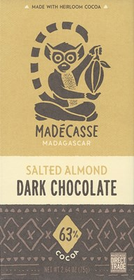 Madecasse, Salted almond 63% dark chocolate bar
