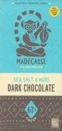 Madecasse, Sea salt and Cocoa nibs 63% dark chocolate bar