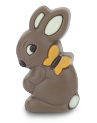 Milk chocolate Easter bunny & butterfly