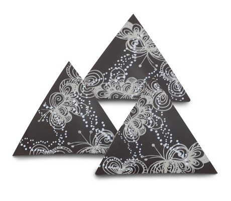 Arabesque, decorative chocolate triangles