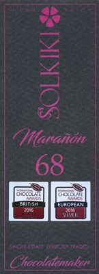 Solkiki, Maranon, 68% dark chocolate bar